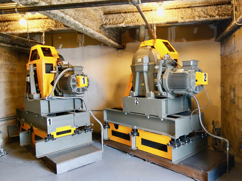 After - New elevator driving machines