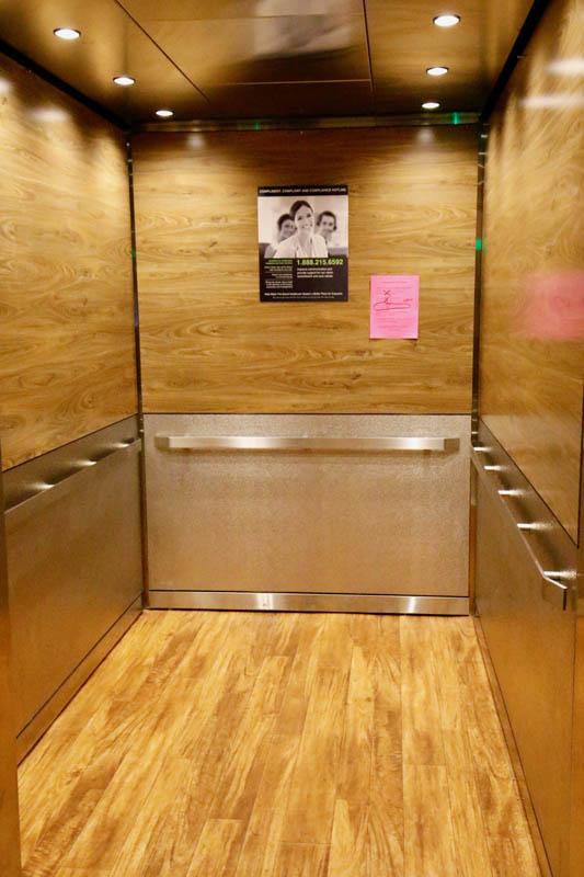 After - New, customer-designed elevator interior